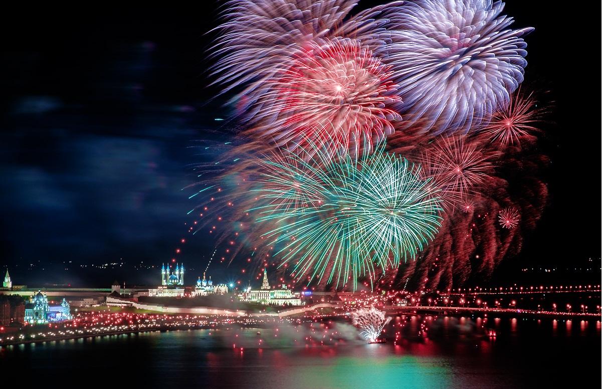В Казани на новый год подготовили четыре площадки для использования пиротехники