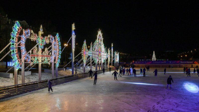 Минниханов оценил световое оформление города к новому году